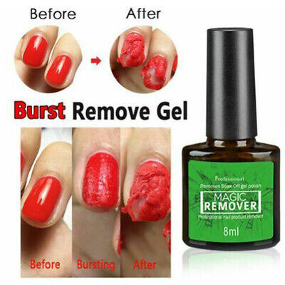 Vinimay Original Burst Magic Nail Gel Polish Remover Safe Clean Soak Off 8ml UK