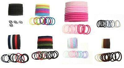 Elastic Hair bands Ponio Bobbles Girls Ponytail Hair Tie Endless Pack of 12