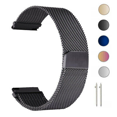 Milanese Loop Magnetic Metal Wrist Watch Strap band For Samsung S3 S2 18 20 22mm