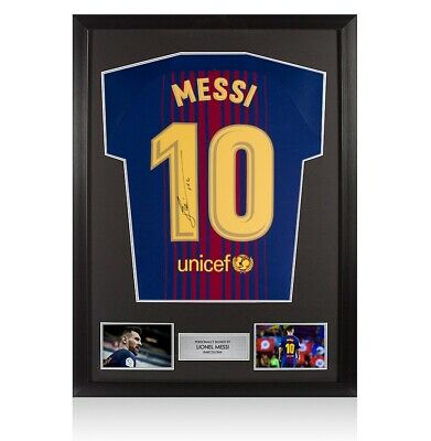 Framed Lionel Messi Signed Barcelona Shirt 2017/2018 - Number 10 Autograph