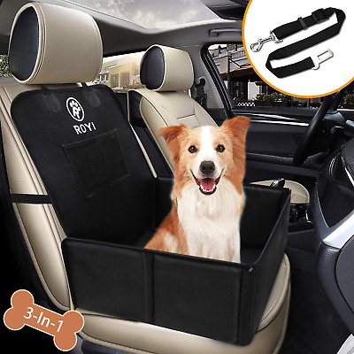 YAOJU Dog Booster Seat Travel Seat protector Dog Basket for Back Seat Front Seat Dog Seat Cove,Pet Safety for Dogs or Cats Waterproof Dog Seat Covers Pet Car