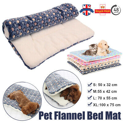 Pet Soft Fleece Pad Blanket Bed Mat Thickened Dog Cat Sofa Cushion Washable S-XL