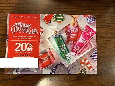 Bath and Body Works Voucher Coupon Discount Code 20% off your order