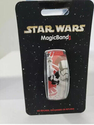 Disney Parks Star Wars Stormtrooper Magic Band 2 Red New