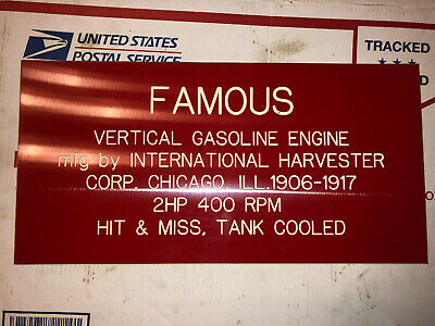 2hp IHC Vertical Famous Sign Hit Miss Stationary Engine 1906-1917