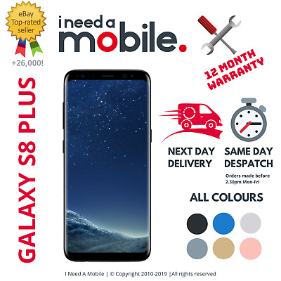 Samsung Galaxy S8 Plus SM-G955F  - Unlocked - All Networks - Various Colours