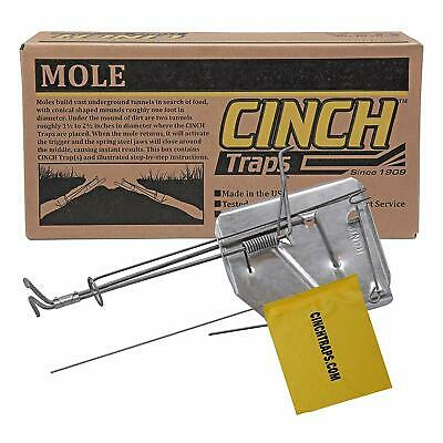 Cinch Mole Trap with Tunnel Marking Flag (Small) -SINGLE TRAP-Heavy-Duty