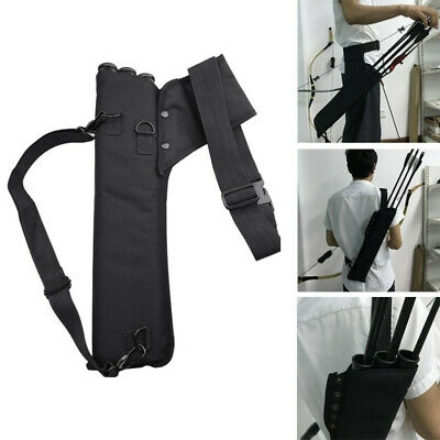 Archery Flechas Carcaj Holder 3 Tube Back Waist Shoulder Strap Bag Pouch/Hunting