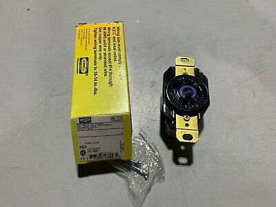 One (1) Hubbell HBL2320 Twist-Lock Receptacle 20A 250V 2-Pole 3-Wire, NOS