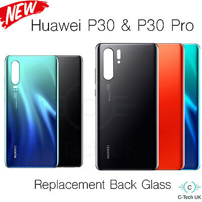 Huawei P30 & Pro Rear Glass Housing Replacement Battery Back Cover + Adhesive UK
