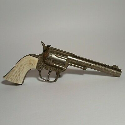 Antique Cap Pistol Hubley Rodeo Made In USA Good Condition Preowned Vintage Toy