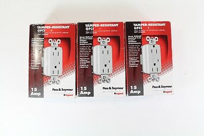 Pass Seymour 1595-TRW GFCI Tamper Resistant Self Test 15A Electrical Outlet Plug