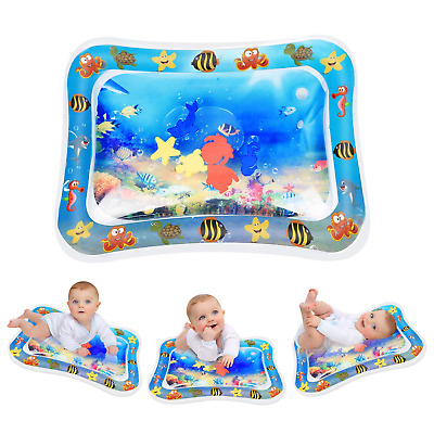 Keten Tummy Time Water Play Mat, Inflatable Perfect Sensory Toys for 3 6 9 and