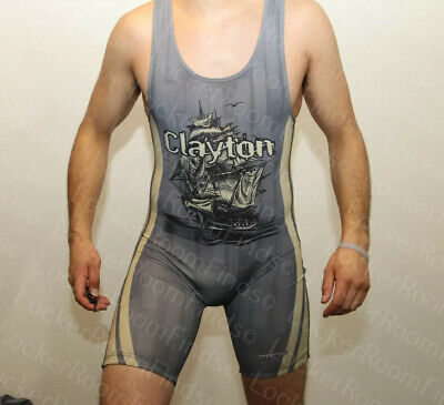 2018 Team Clayton Clippers WRESTLING SINGLET M Medium High School rare jersey