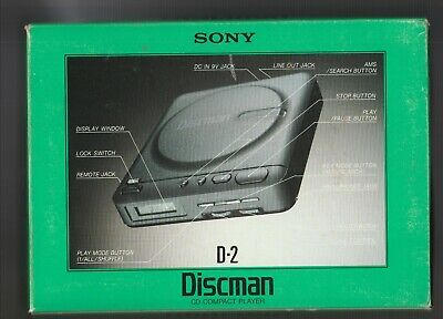 Sony Discman (D-2) CD PLAYER **Tested ~In Good Working Order** Product Yr: 1989