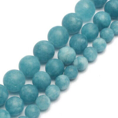Matte Blue Chalcedony Stone Round Loose Beads for Jewelry Making 6/8/10mm 15''