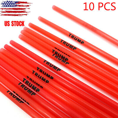 10PCS President Donald Trump Reusable Straws - 2020 Make America Great Again USA