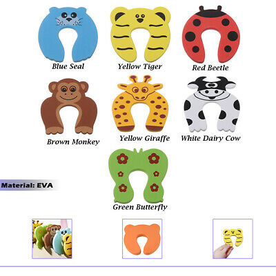 7pcs Animal Designs Foam Door Jammer Guard Finger Protector Stoppers Baby Safety