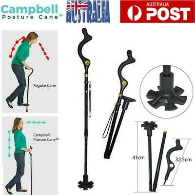 105-127CM Walking Stick Folding Campbell Posture Hiking Cane Adjustable Heights