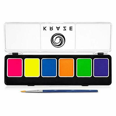 Kraze FX 6 Color Neon Face & Body Paint Palette (6 gm) with Brush - Water