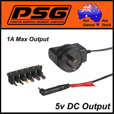 Ac/Dc Adaptor plug pack Regulated output 5vdc@1Amps Switchmode power supply