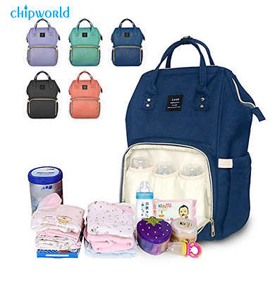 Mummy Mom Dad Maternity Nappy Diaper Bag Baby Nursing Large Travel Backpack Tote