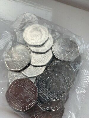 Brand new sealed full bag of Sherlock Holmes 50p coins 2019 release (NEW)
