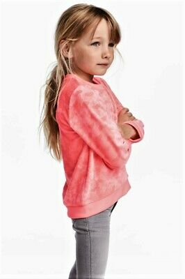 Girl's H&M Sweatshirt Size 8-10 Years With Neon With Pink Hearts  New With Tags