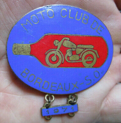 1971 - Insigne Badge Moto Club Bordeaux - S.o