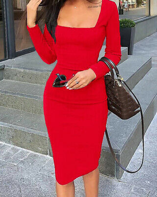 Women's Long Sleeve Bandage Bodycon For Evening Party Cocktail Short Midi Dress