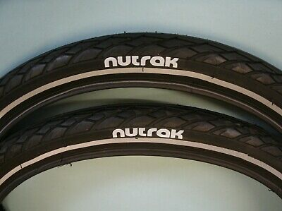 Nutrak 16 x 1 3//8 siped street tyre with reflective stripe and puncture breaker