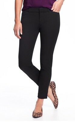 Old Navy Mid-Rise Pixie Ankle Pants ~ Black NWT 4 Petite
