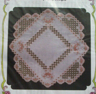 Nature's Blend Spring doily hardanger embroidery pattern doily