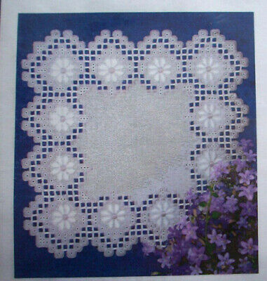 Light Hearted Lavender doily hardanger embroidery pattern doily