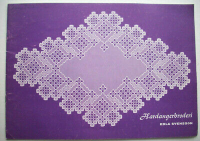 Swedish vintage  hardanger embroidery pattern doily doilies