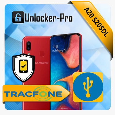 Instant Remote Unlock Service TracFone A20 S205DL