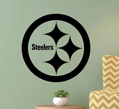 Pittsburgh Steelers Wall Art Decal 3D Smashed Kids Bedroom Wall Decor WL148
