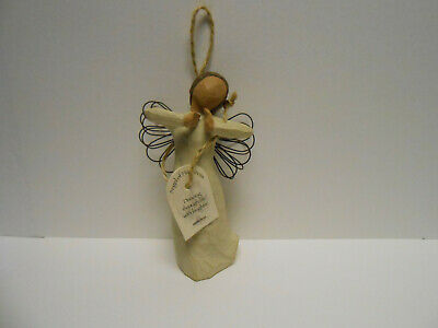 Willow Tree Ornament Angel of Happiness Susan Lordi with hang tag