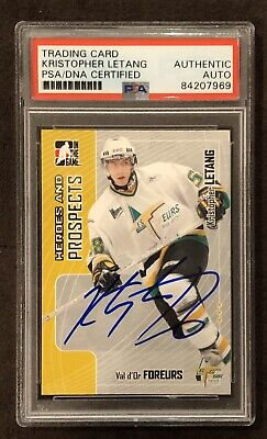 Kris Letang Signed Prospects Card PITTSBURGH PENGUINS AUTOGRAPH PSA Certified RC