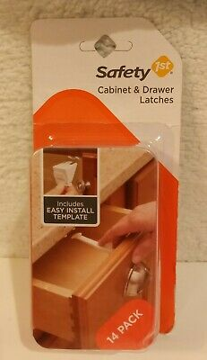Safety 1st Cabinet & Drawer Latches 14 Pack 48390 New - Child Proofing