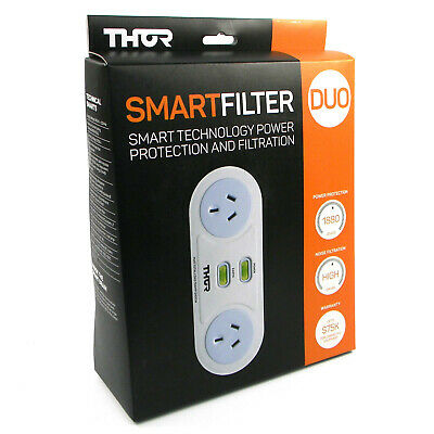 Thor C2 Smart Filter Duo 2 Power Board Plug Surge Protector and Filtration