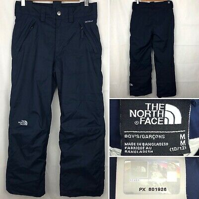 Boys THE NORTH FACE EZ Grow Trousers Size Medium Age 10-12 Years In Blue Zip Fly