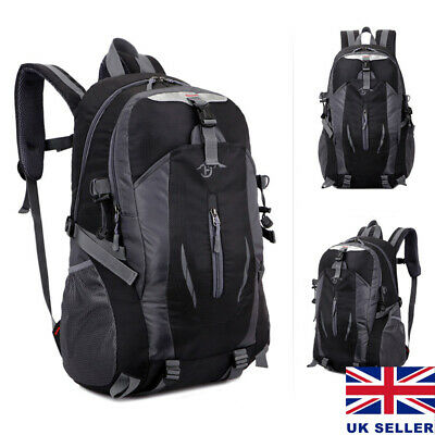 45L Large Mens Womens Waterproof Backpack Rucksack Hiking Camping School Bag