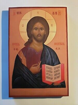 Christ the Pantocrator, Orthodox Icon, Size 6, 8/16 x 9, 10/16 inches 16.5 x 25