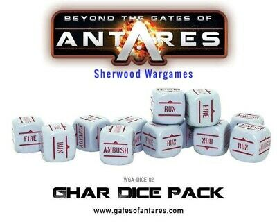 28mm Warlord Games Grey & Red Order Dice WWII Bolt Action Antares, Erehwon BNIB