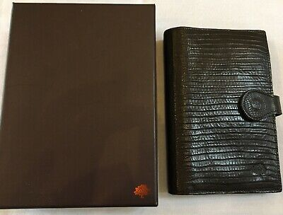 Organiser/Filofax-Rare Mulberry Pocketbook-Luxury Choc Chameleon Print Leather