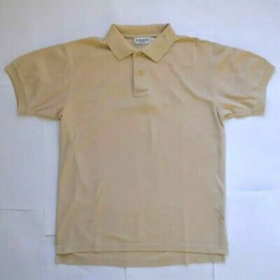 Yves Saint Laurent Polo Shirt Top Cream Beige Size Medium Mens