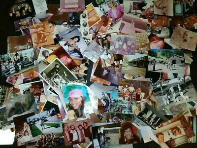 Lot of 100 Mixed Found Photos Vintage Family Snapshots Arts & Crafts Scrapbook
