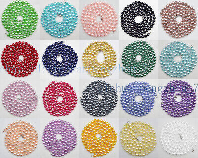 50 Or 100PCs Rainbow Multicolor Ink Spots 8mm Round Glass Beads G2560-20