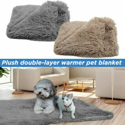 Extra Large Dog Cat Blanket Pet Soft Fluffy Cosy Warm Throw Mat Bed Cushion UK